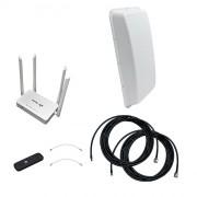 Интернет-комплект Дача-Универсал 2x2 (3G/4G MIMO антенна, модем, роутер)