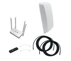 Интернет-комплект Дача-Универсал 2x2 (3G/4G MIMO антенна, модем, роутер) фото 1
