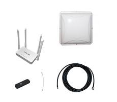 Комплект 3G/4G Дача-Эконом (Роутер WiFi, модем, кабель 3м, антенна 3G/4G 14 дБ) фото 1