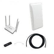 Комплект 3G/4G Дача-Стандарт (Роутер WiFi, модем, кабель 5м, антенна 3G/4G 17 дБ)
