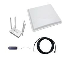 Интернет-комплект Дальняя Дача (Роутер WiFi, модем, кабель 5м, антенна 3G на 20 дБ) фото 1