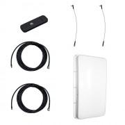Модем Huawei E3372 с внешней 3G/4G-антенной MIMO 2 х 15 дБ и ВЧ-кабелями по 5м