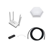 Усилитель 3G/4G Дача-Универсал на базе антенны 3G/4G 15 дБ, модема и роутера фото 1