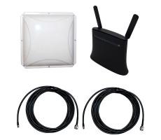 Интернет-комплект роутера 3G/4G ZTE MF283 и внешней антенны 2x14 дБ фото 1