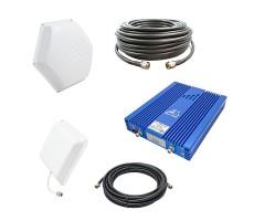 Комплект усилителя BS-GSM/DCS-80 PRO для усиления GSM/UMTS900 и GSM/LTE1800 (до 1500 м2) фото 1