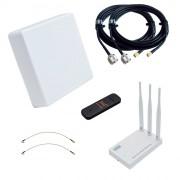Интернет-комплект на дачу (MIMO-антенна, 4G-модем, WiFi-роутер)