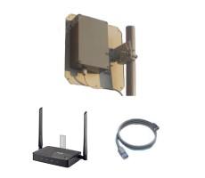 Комплект Дача-Стандарт USB (Роутер Zyxel + уличный модем 14 дБ) фото 1