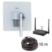 Комплект 3G/4G Коттедж-17 (WiFi-роутер Zyxel + уличный модем 3G/4G 2x17 дБ)
