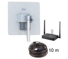 Комплект 3G/4G Коттедж-17 (WiFi-роутер Zyxel + уличный модем 3G/4G 2x17 дБ) фото 1