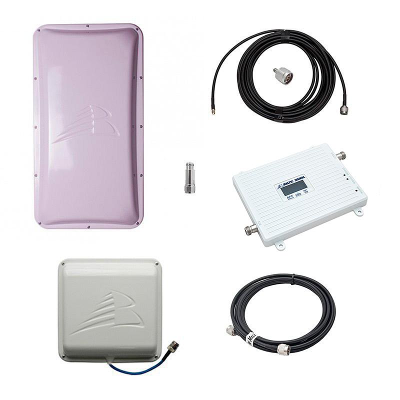 Комплект Baltic Signal для усиления GSM/LTE 1800 и 3G (до 200 м2) Комплект Baltic Signal для усиления GSM/LTE 1800 и 3G (до 200 м2)
