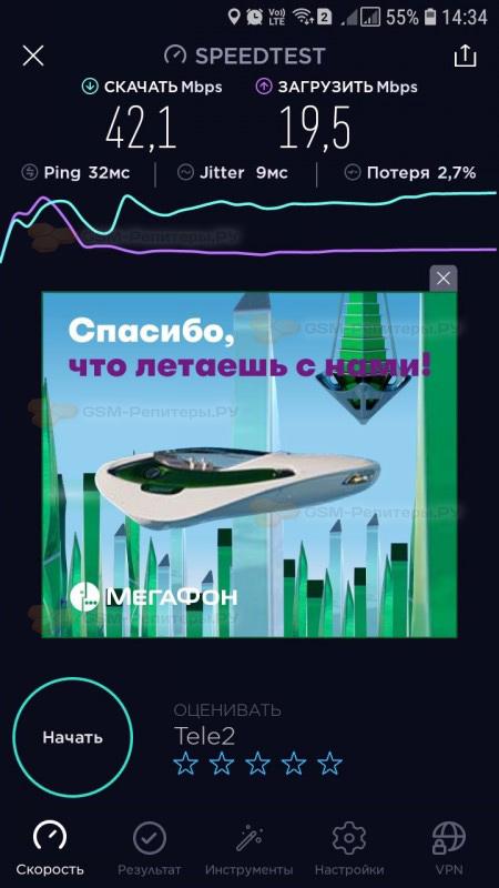 Интернет 4G ТЕЛЕ2 для дома в СТ Отрадное