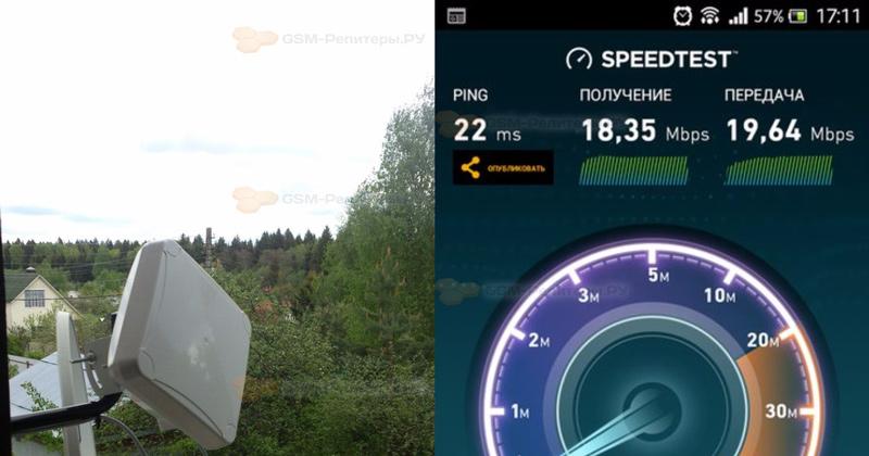 Установка 4G-антенны в СНТ Лесное