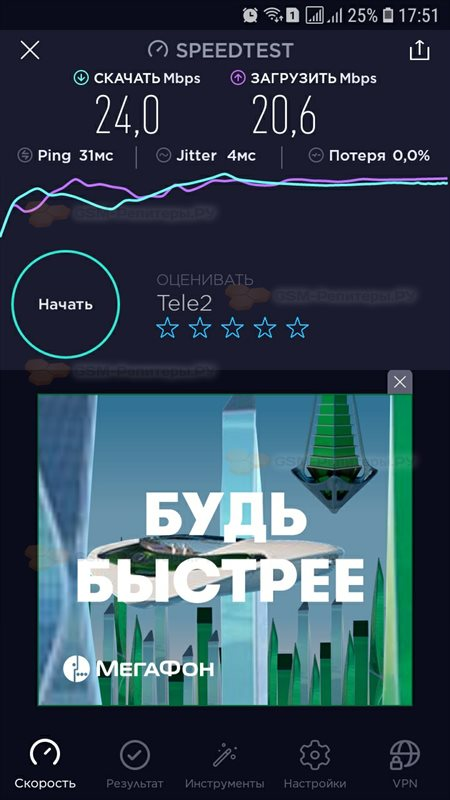 Подключение интернета Теле2 4G в СНТ Арбат-2